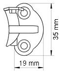 Fönsterhasp med spärrfunktion beslag vänster